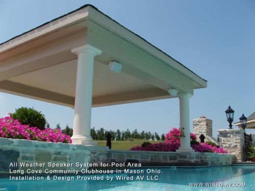 Outdoor Speaker Pool Installation Residential