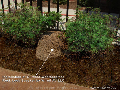 Outdoor Pool Speaker Installation Residential