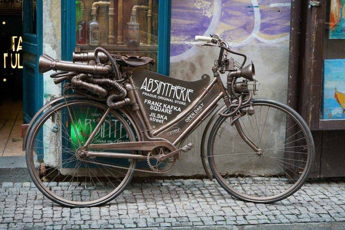 Prague Photo of Bicycle in front of Absynth shop
