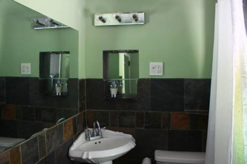 Bathroom Slate Tiles and Mirror